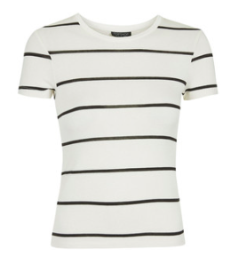 Topshop striped tee