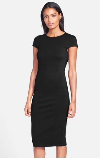 Knee length pencil LBD