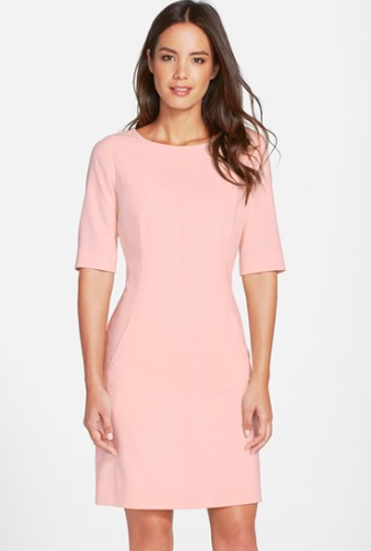 Tahari A-line pink dress