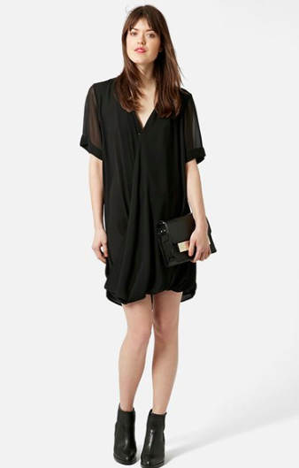 Topshop black tunic cress