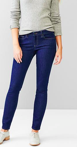 Gap dark blue skinny jeans