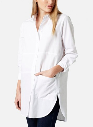 Topshop white oversize button down