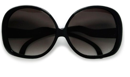 Amazon black oversized sunglasses