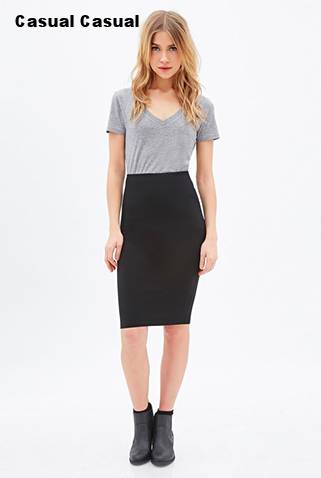 Forever 21 Jersey Pencil Skirt