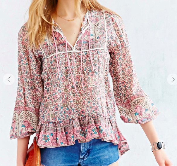 Urban Outfitters Floral Blouse