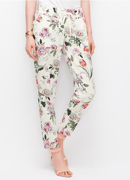 Ann Taylor floral pants