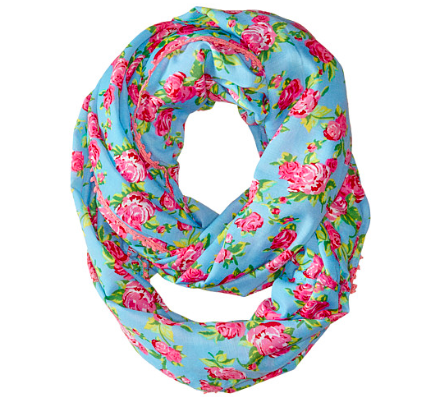 Betsey Johnson floral infinity scarf