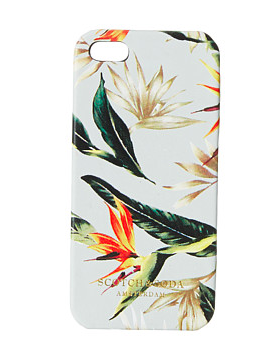 Scotch and Soda leather floral iphone case