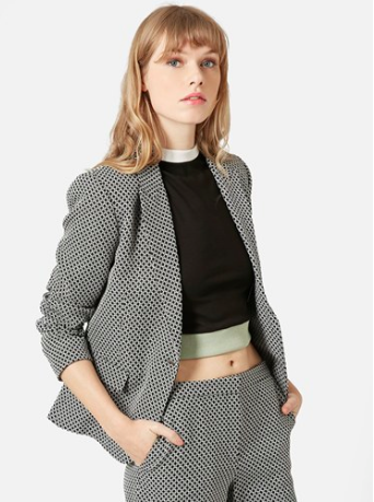 Topshop patterned blazer