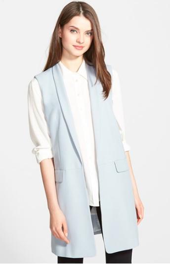 DKNY long blue vest
