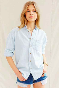 Urban Outfitters bleached denim shirt
