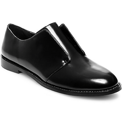 Steve Madden Black slip on oxfords