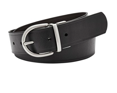FOSSIL black leather belt