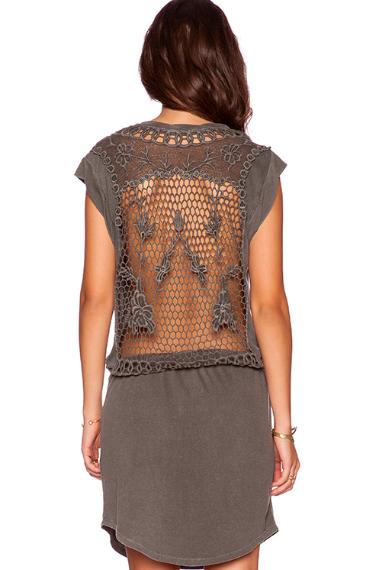 Revolve Clothing sheer panel dress