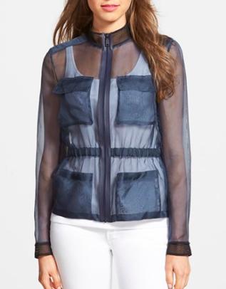 Elie Tahari sheer jacket