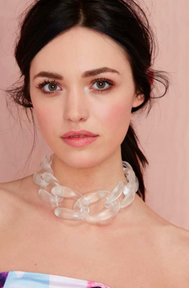 Nasty Gal clear chain choker