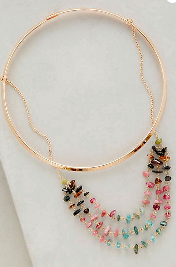 Anthropologie jewel necklace