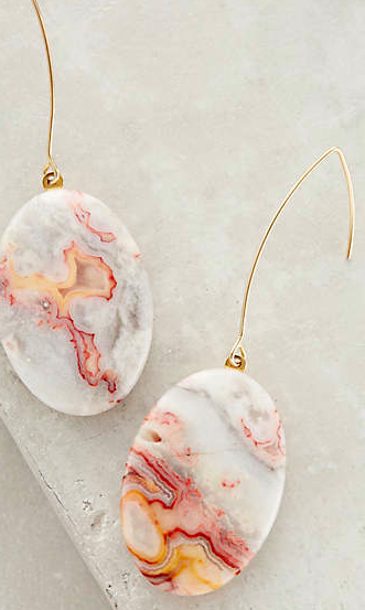Anthropologie stone earrings