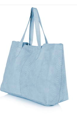 Topshop blue tote bag
