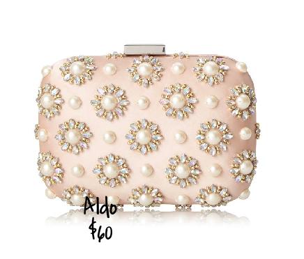 Aldo jeweled box clutch