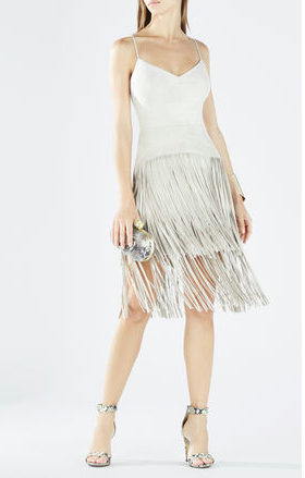 BCBG fringe dress