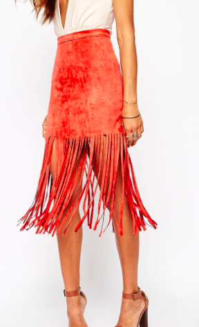 Missguided fringe skirt