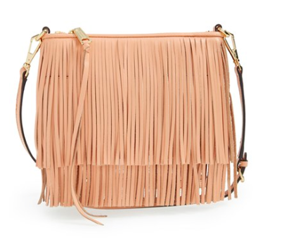 Rebecca Minkoff fringe leather clutch