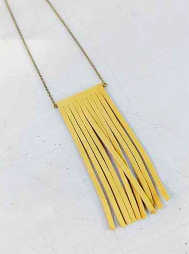 Urban Outfitters Yellow Fringe Necklace