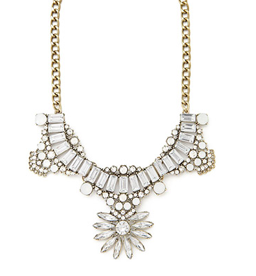 Frorever 21 jewel statement necklace