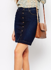 mango mini denim skirt