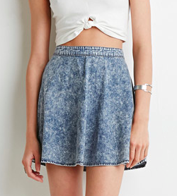 Forever 21 denim skater skirt