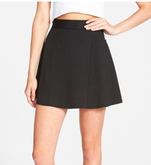 Topshop black skater mini skirt