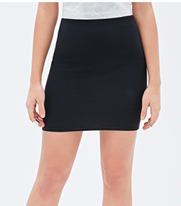 Forever 21 mini black tube skirt