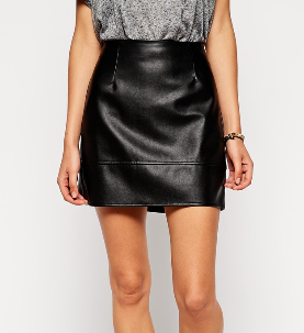 Asos leather look mini