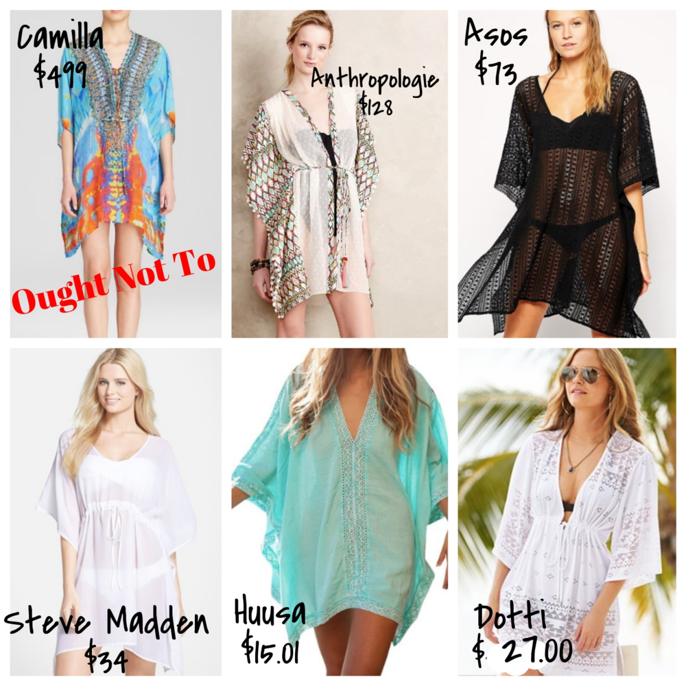 affordable kaftan beach cover-ups