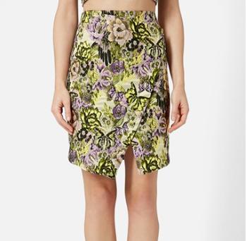 Topshop floral wrap skirt