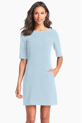 Tahari pale blue dress