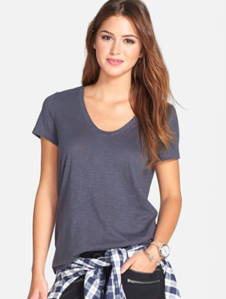 Halogen grey tee