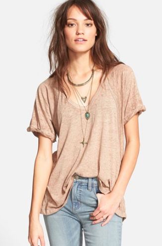Free people oversized tee