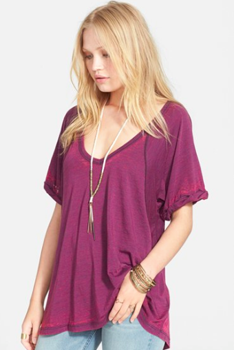 Free People Royal Purple Tee