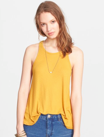 Free people yellow tank
