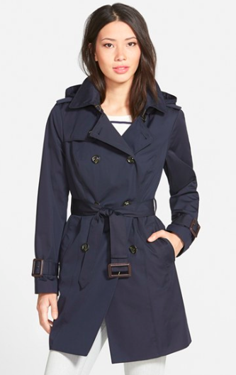 London Fog navy trenchcoat