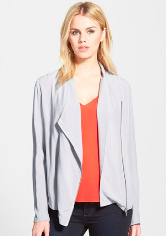 Trouve draped grey jacket