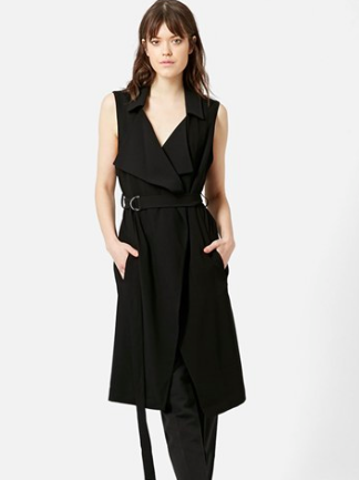Topshop black sleeveless jacket