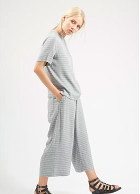Topshop grey top and pants set
