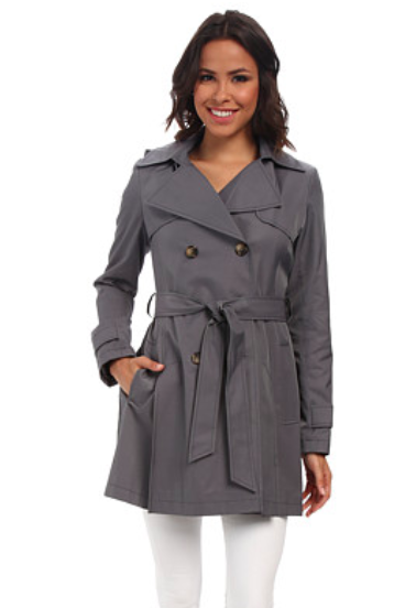 DKNY grey trench coat
