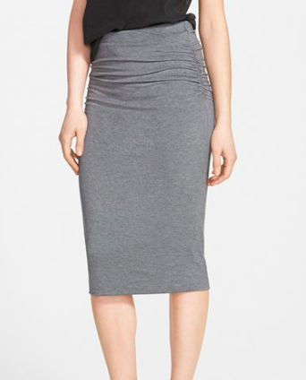 Caslon grey midi skirt