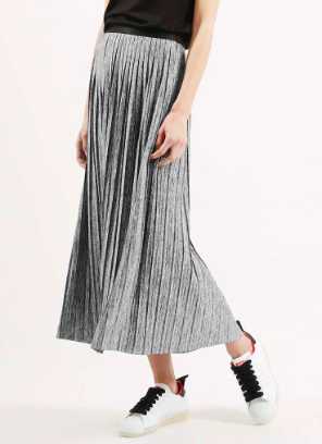 Topshop pleated grey skirt