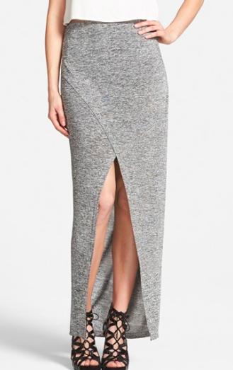 Glamorous grey maxi skirt