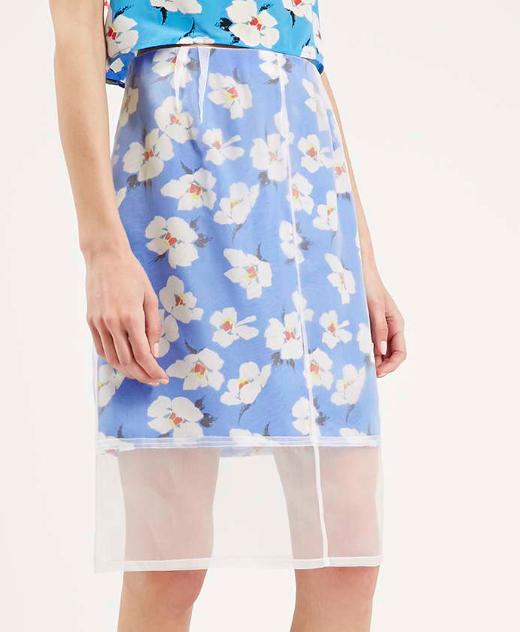 Topshop floral sheer skirt